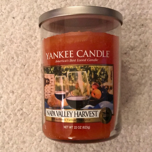 Yankee candle NAPA valley harvest 2 WICk 22oz new
